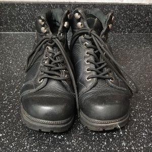 HARLEY DAVIDSON BLACK RIDING BOOTS SIZE 8
